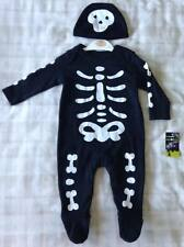 Baby Boys Halloween Skeleton Babygrow 2 Pce Outfit/Fancy Dress Up/Costume 3-6m
