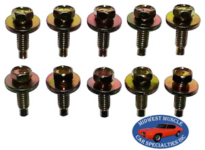 Ford Lincoln Mercury Body Fender Frame Factory Correct 5/16-18 Bolt Bolts 10pc G