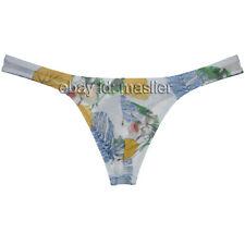 Men's Tempting Bikini Sheer Mesh Thong Bulge Pouch Jockstrap Underwear XL Palm