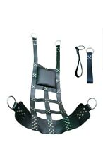 REAL LEATHER ADULT SEX SLING/SWING WITH STIRRUPS GAY BONDAGE INTEREST