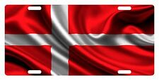 DENMARK Flag Custom License Plate  Emblem WAVE Version