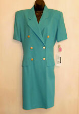 $80 Double Breasted Suit Dress size 8 Dani Max / Lois Snyder Business Career NWT