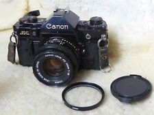 Canon A-1 Film Camera & Canon FD 50mm F1.8 Lens,  fwo + filter