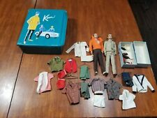 1962 Mattel Ken Doll lot of 2 Case with Large Vintage Clothing Collection