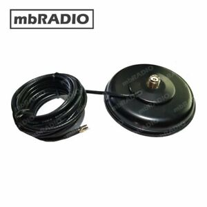SO239 H'DUTY 135mm MAGNETIC BASE, RUBBER PROTECTOR 4.5M FME, *BNC or PL259 ADAPT