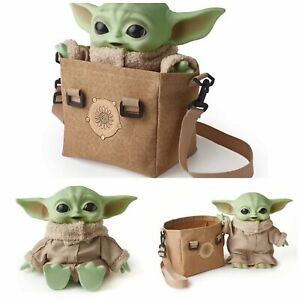 "STAR WARS Mandalorian THE CHILD Baby Yoda Grogu 11"" Talking Plush With Tote Bag"