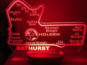 Bathurst Holden LED race track sign light map 300mm wide 220mm bar supercars