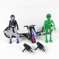 "Raven X-Cycle & Beast Boy - Teen Titans - 2003 Dc / Bandai 3.5"" Action Figures"