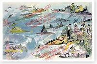 Albert Robida Futuristic Air Travel Going To The Opera In 2000 Art Print Poster