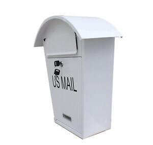 "Key Lock Wall Mount MailBox Drop Box Parcel Cash Money Safe Mail Security 17""x12"