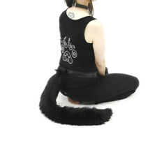 PAWSTAR Furry Kitty Cat Tail - Black Adult Costume Cosplay Fur Fluffy [BK]3500