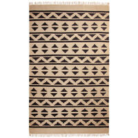 ⭐ Cotton Yarn Patterned Recycled Area Rug Lounge 90x135cm 120x180cm 150x240cm