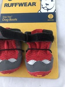 Ruffwear Grip Trex All Terrain Dog Boots Size 3.0 inch Red Currant One Pair New