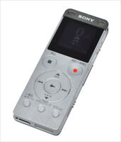 SONY ICD-UX565F stereo IC recorder 8GB linear PCM recording USB Silver