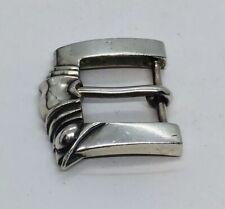 Barry Kieselstein Cord Sterling Silver Ornate Belt Buckle