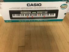 Casio LK-135 Light Up 61 Full Size Key Portable Keyboard Black **NO POWER CORD**