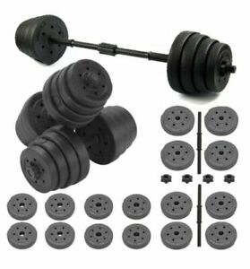 30KG Adjustable Dumbbells Free Weights Set Gym Dumbbell Pair Fitness Workout See