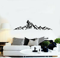 Vinyl Wall Decal Bicycle Bike Extreme Sport Mountain Hill Stickers Mural (g1735)