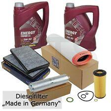 Filterset Servicekit BMW 5er E60 E61 525d 530d mit 10L 5W30 LL Longlife 04