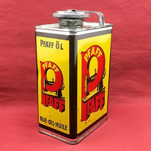 Vintage PFAFF Sewing Machine Oil Can 1lt German Tin Metal Oiler Prop