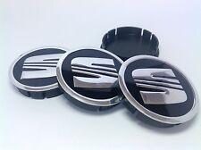 SEAT Cache Moyeux Centres de Roue Alu Emblem 4p x 60mm/55mm  *NEUF*