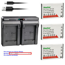 Kastar Battery Dual Charger for Casio Genuine NP-20 CNP20 & OEM BC-11L BC-31L