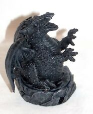 New Miniature Smoke Breathing Black Dragon Cone Incense Burner Holder