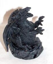 New Miniature Smoke Breathing Black Dragon Cone Incense Burner Holder