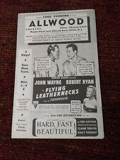 John Wayne Flying Leathernecks Allwood theater Clifton NJ  Movie Flyer 1951