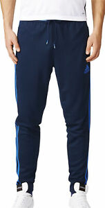 adidas Condivo 16 Mens Training Pants Blue Football Tracksuit Bottoms Tapered S
