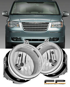 2005-2009 Chrysler Town & Country Clear Replacement Fog Lights Housing Assembly
