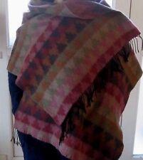 ÉTOLE - écharpe EN LAINE MERINOS CACHEMIRE ET SOIE vintage scarf 60 cm x 180cm