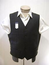 Daniel Cremieux Mens Wool Vest Dress Suit Coat Tuxedo Button Herringbone Grey L