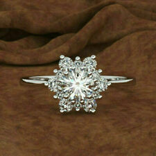 1.50 Ct Round Cut Lab-created Diamond Engagement Ring Sterling Silver 925