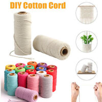 3/4/5/6mm Natural Cotton Rope Cord String Twisted Beige Craft Macrame Art Decor