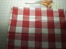 "Moda Fabric-Buffalo Red Check--16"" wide -"