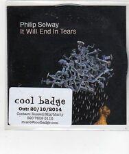 (FL664) Philip Selway, It Will End In Tears - 2014 DJ CD