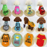 Pet Clothes Puppy Small Dog Cat Vest T Shirt Coat Summer Shirt Jacket Apparel