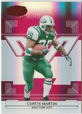 2006 Leaf Certified Materials Mirror Red #101 Curtis Martin #'d 16 / 100 NY Jets