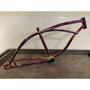 "NEON /Chrome  20"" Bicycle Frame Lowrider Cruiser Bikes"