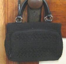NICE Small Worthington Black Woven Tweed Clutch Satchel Purse Bag Handbag Tote