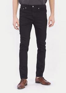 Genuine Levis 510 Skinny Fit stretch Mens Denim Jeans Black