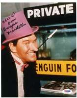 Burgess Meredith Psa Dna Coa Autograph 8x10 Batman Photo Hand Signed