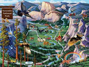 YOSEMITE ADVENTURES by JOSEPH BURGESS - SunsOut 500 piece puzzle  - NEW