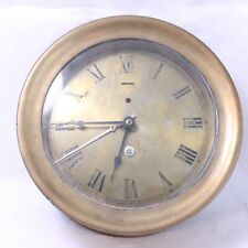 Vintage Brass Ship's Clock Sold As Is