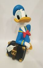 Walt Disney Donald Duck with Suitcase figurine statue Extremely Rare!