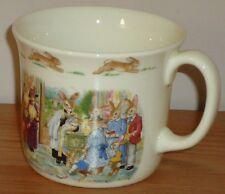 "Royal Doulton BUNNYKINS CHRISTENING coffee tea MUG English fine bone china 3""H"