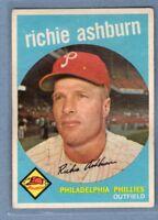1959 Topps #300 Richie Ashburn (HOF) G-VG    Set Break A