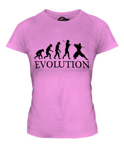 NINJA EVOLUTION OF MAN LADIES T-SHIRT TEE TOP GIFT MARTIAL ARTS