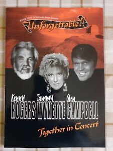 Kenny Rogers Glen Campbell Tammy Wynette Unforgettable Tour Programme 1996